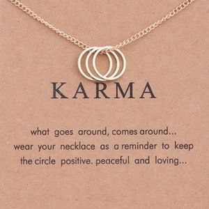 Jewelry - Karma Womens Necklace  Gold Color Clavicle Chains